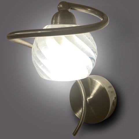 Buy Brass Swirl Single Wall Light