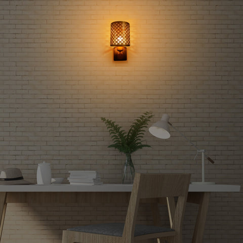 Buy Brass Weaving Single Wall Light