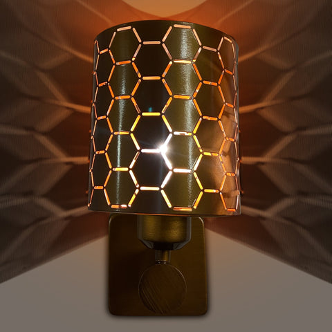 Buy Hexagon Single Wall Light