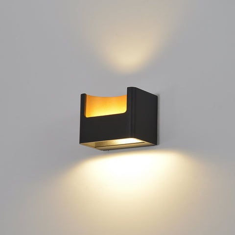 CoolGold Black LED Wall Light Shop