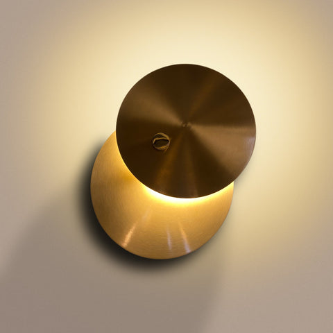Double Brass Disc LED Wall Light Bangalore