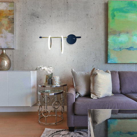 Double Bulbous Wall Light India