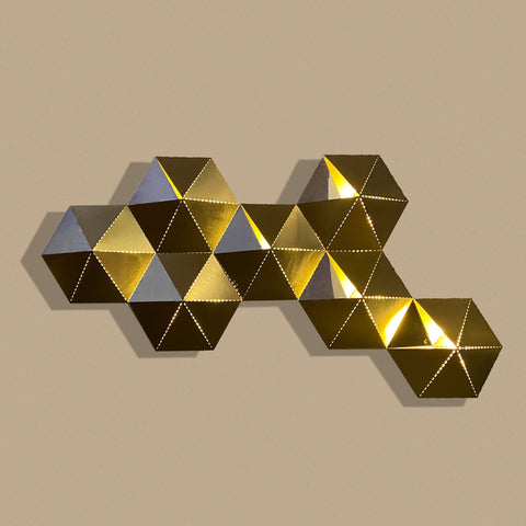 Flow Brass LED Wall Light india