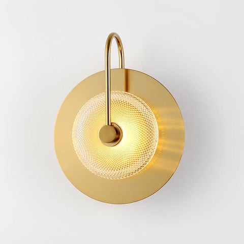 Gold Finish Glass LED Wall Light Shop