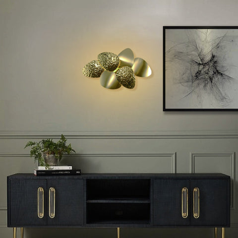 Gold Leaf Large Wall Lamp Bangalore