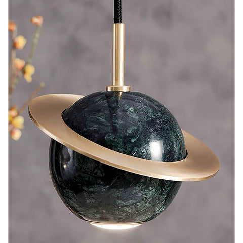 Green Marble Pendant Light