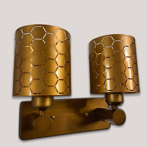 Hexagon Double Wall Light India