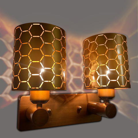 Hexagon Double Wall Light Store