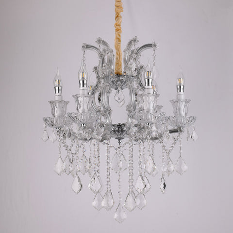 Iris 6 light crystal chandelier bangalore