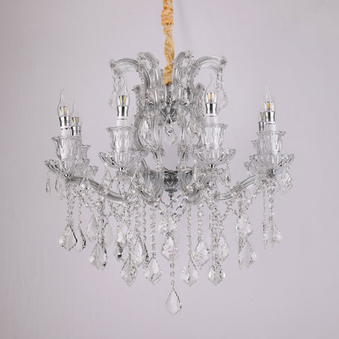 Iris 8 light crystal chandelier bangalore