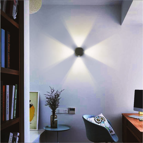 Rays White LED Wall Lamp Shop