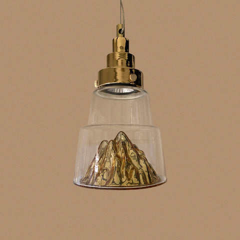 Small Mountain LED Hanging Light Lamp