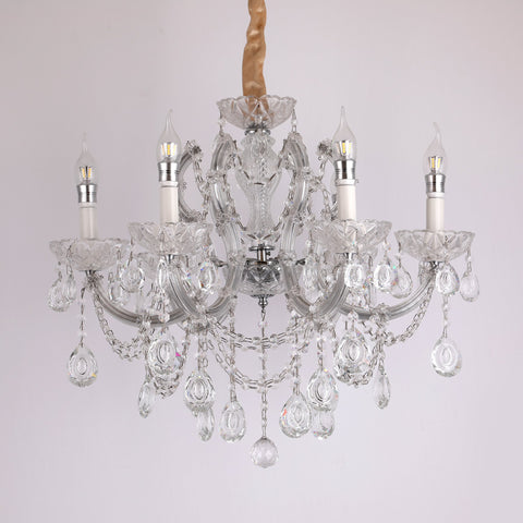 Sparkle 6 Light Crystal Chandelier bangalore