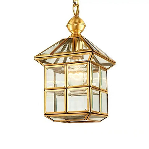 Square Brass Pendant Lamp Bangalore