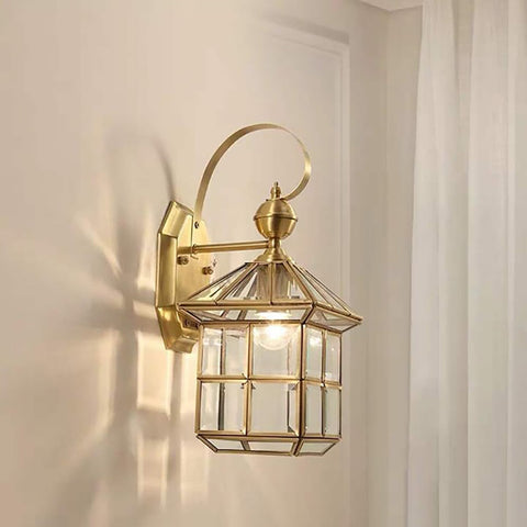 Square Brass Wall lamp Shop