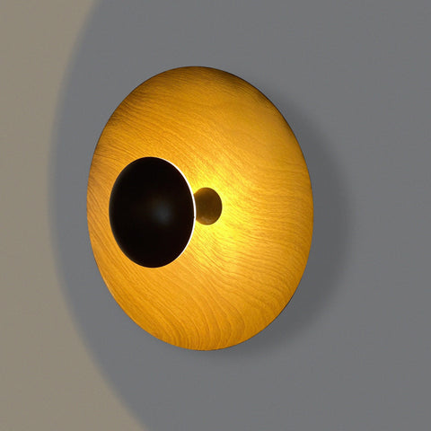 Wood Button LED Wall Light India