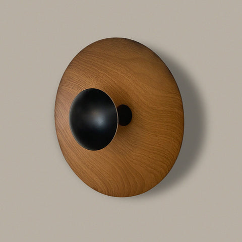 Wood Button LED Wall Light Lamp