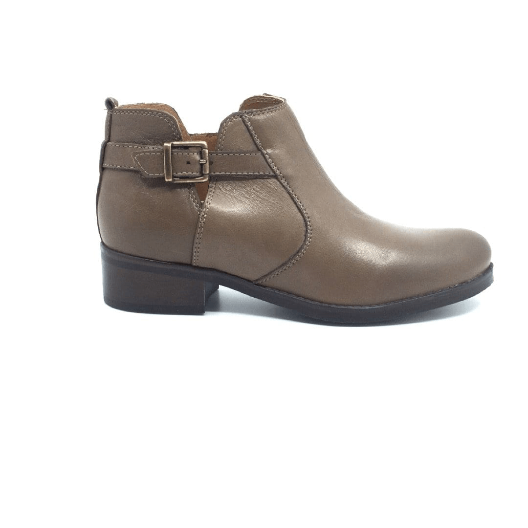 Botine din piele naturala box, dama - 418 taupe box - Clasicor Outlet