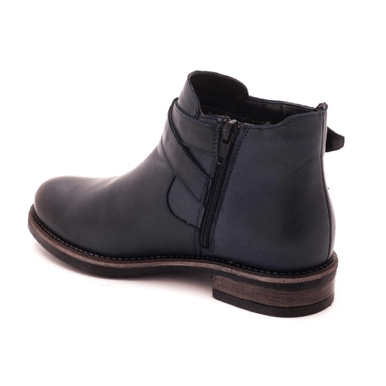 Botine piele naturala, dama - 453 blue box - Clasicor Outlet