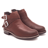 Botine piele naturala, dama - 453 maro box - Clasicor Outlet