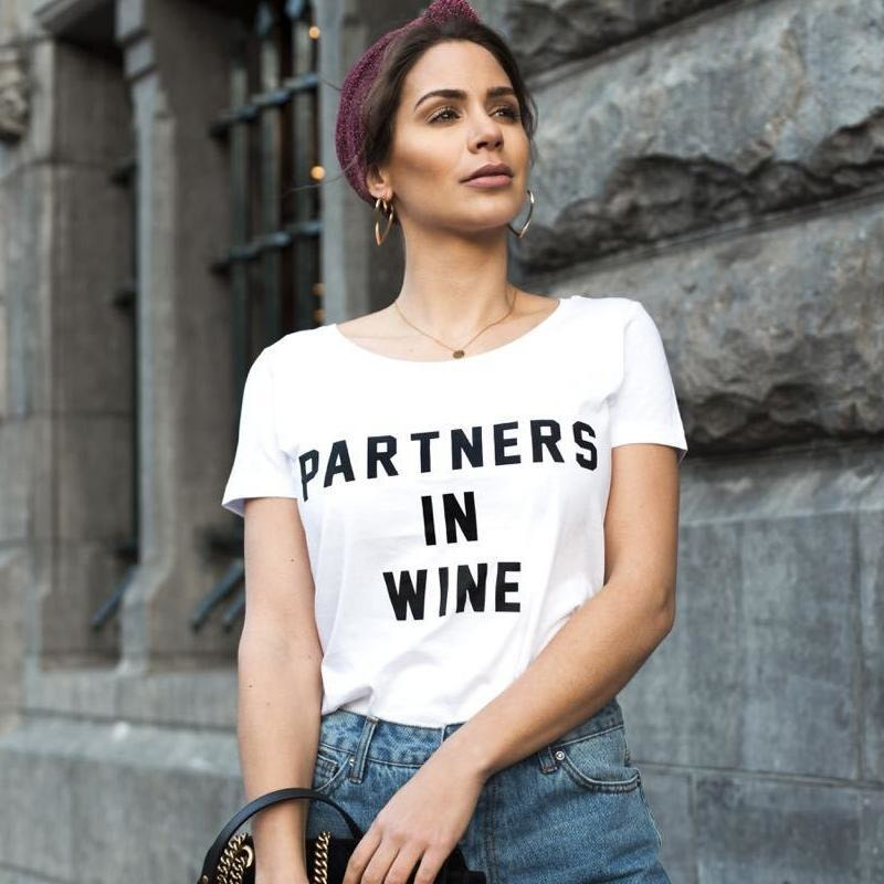 Forever Friday partners in wine t-shirt