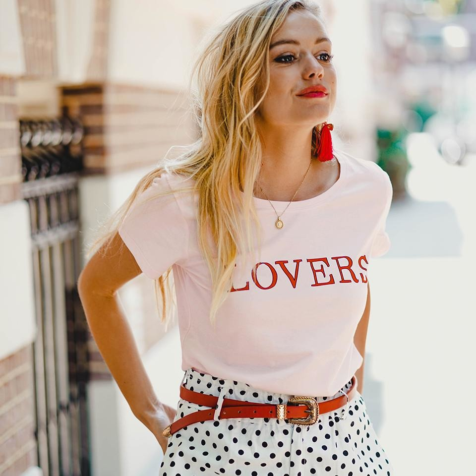 Lovers t-shirt pink Forever Friday