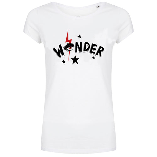 Forever Friday wonder t-shirt wit