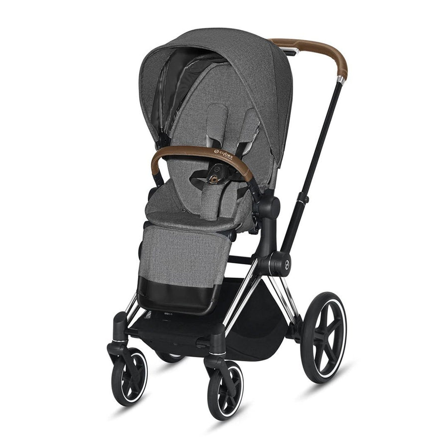 Travel System Priam Chrome Black+ Cloud Z + Base Z Cybex - Cybex-MiniNuts
