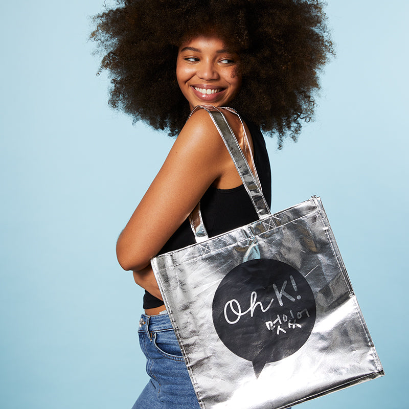 Oh K! Silver Tote Bag
