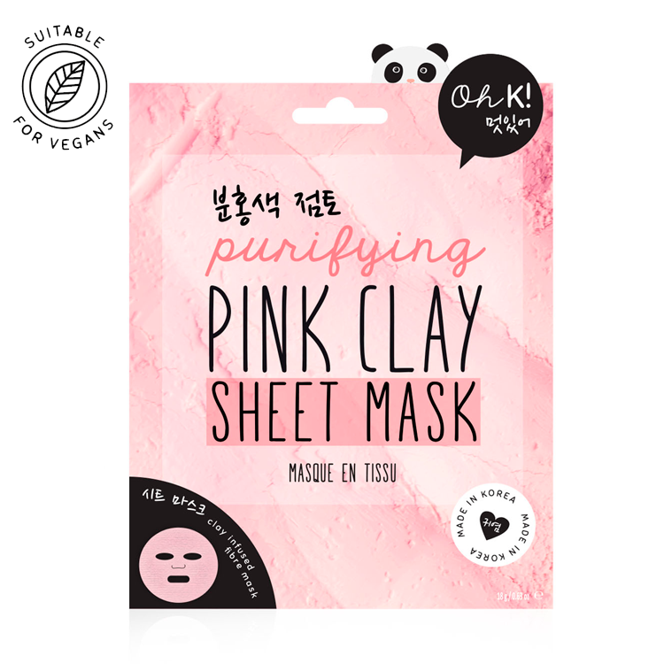 Oh K! Pink Clay Sheet Mask - Oh K! Life