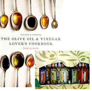 THE OLIVE OIL & VINEGAR LOVER'S COOKBOOK PLUS SIX PACK SAMPLER