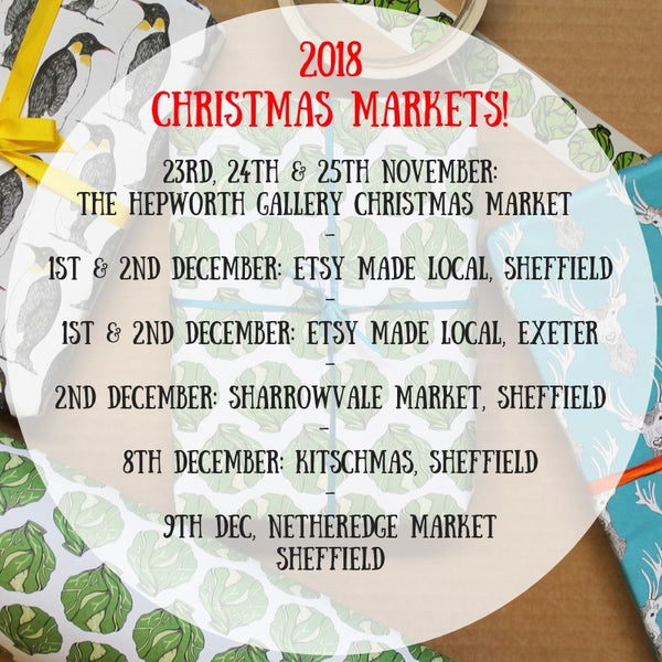 2018 Christmas Market Dates