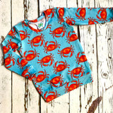 Kids Crab jumper collaboration with Maebelle and Bo