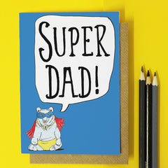 Super Dad Father's Day %Card
