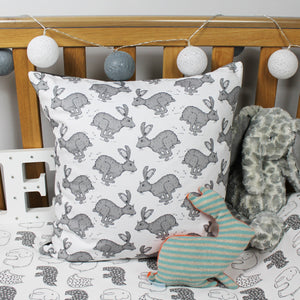 Grey Hare Cushion - Martha and Hepsie