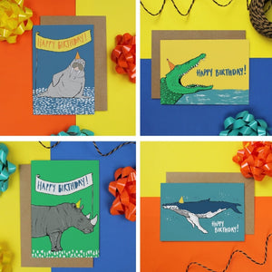 Animal Birthday Card Bundle Martha And Hepsie
