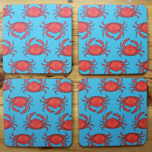 Turquoise Crab Coasters - Martha and Hepsie