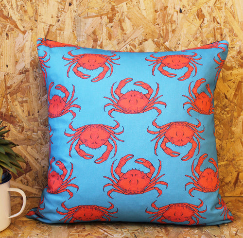 Turquoise Crab Cushion - Martha and Hepsie