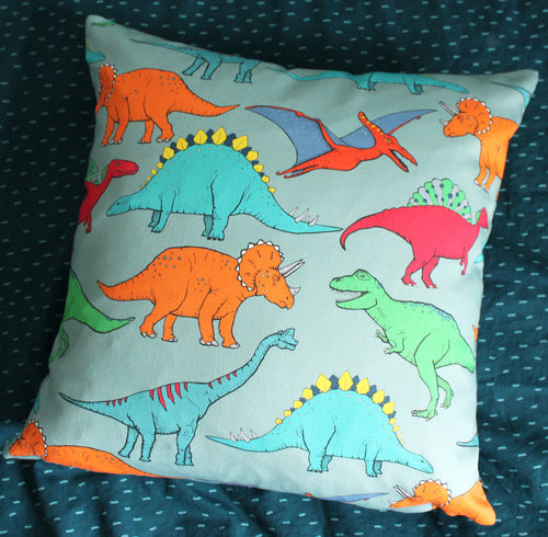Dinosaur Multi Coloured Cushion - Martha and Hepsie