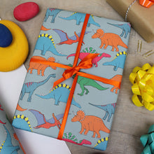 Load image into Gallery viewer, Dinosaur Multi Coloured Gift Wrap