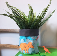 Dinosaur Multi Coloured Storage Basket - Martha and Hepsie