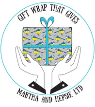 Blue Tit Bird Gift Wrap - Martha and Hepsie