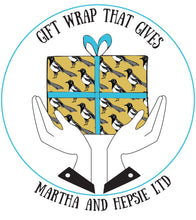 Yellow Magpie Bird Gift Wrap - Martha and Hepsie
