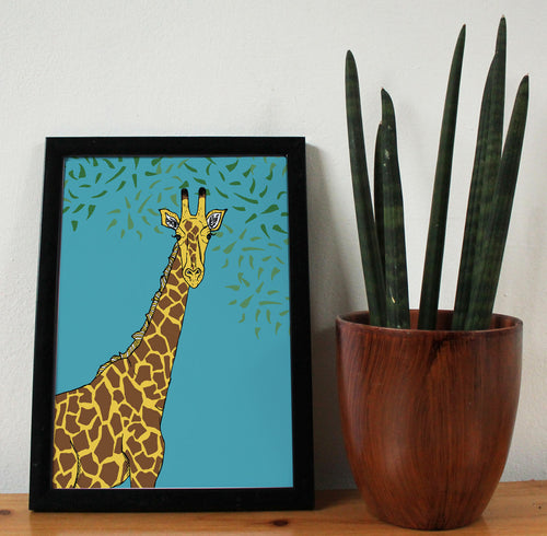 Giraffe A4 Art Print - Martha and Hepsie