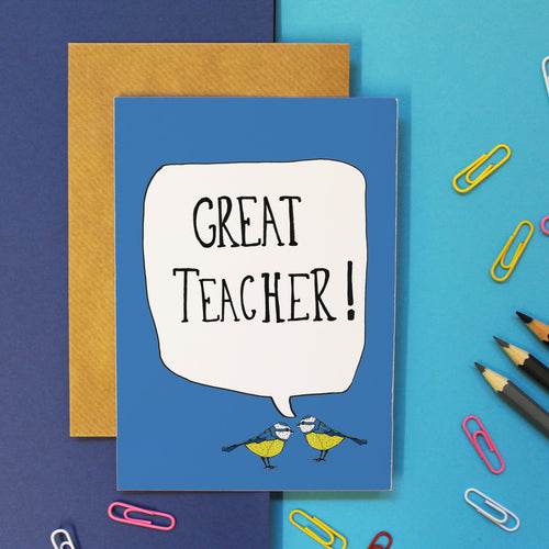 Great Teacher Card - Martha and Hepsie