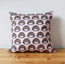 Load image into Gallery viewer, Pink Hedgehog Cushion - Martha and Hepsie