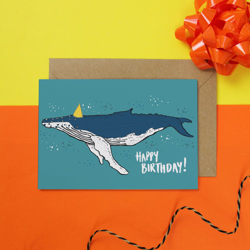 Whale Birthday Card - Martha and Hepsie