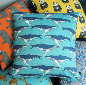 Whale Cushion - Martha and Hepsie