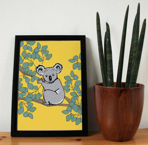 Koala A4 Art Print - Martha and Hepsie