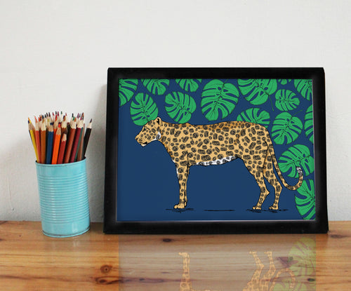 Leopard A4 Art Print - Martha and Hepsie